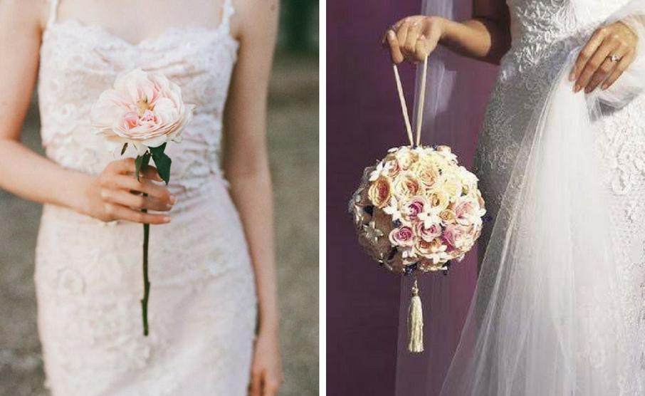 Single Flower e Pomander: i bouquet da sposa 2017